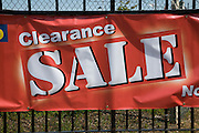 Clearance sale banner sign