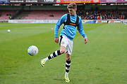 Forest Green Rovers Olly Mehew(29) warming up during the Vanarama National League match between York City and Forest Green Rovers at Bootham Crescent, York, England on 29 April 2017. Photo by Shane Healey.