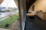 A view from one of the second floor offices of Operation Fresh Start on Milwaukee Street during the grand opening ceremony in Madison, WI on Thursday, April 11, 2019.