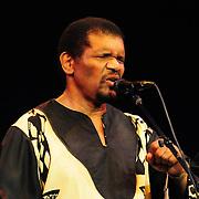 Ladysmith Black Mambazo member Russel Methembu performing at The Music Hall, Portsmouth, NH