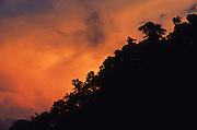 Sunset at Baru volcano, Chiriqui highlands, Panama, Central America