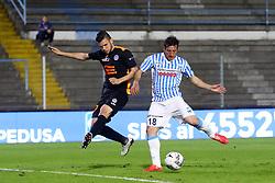 """Foto Filippo Rubin<br /> 04/04/2017 Ferrara (Italia)<br /> Sport Calcio<br /> Spal vs Novara - Campionato di calcio Serie B ConTe.it 2016/2017 - Stadio """"Paolo Mazza""""<br /> Nella foto: GOAL SPAL EROS SCHIAVON<br /> <br /> Photo Filippo Rubin<br /> Apirl 04, 2017 Ferrara (Italy)<br /> Sport Soccer<br /> Spal vs Novara - Italian Football Championship League B ConTe.it 2016/2017 - """"Paolo Mazza"""" Stadium <br /> In the pic: SPAL'S GOAL EROS SCHIAVON"""