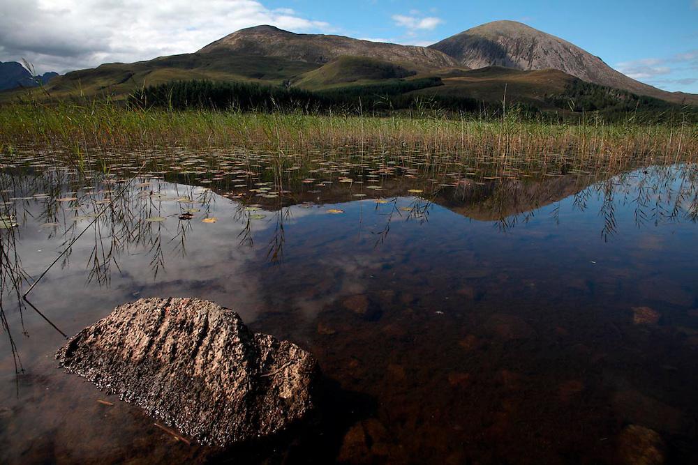 Cullin Mountains vistas desde Torrin. Isla de Skye. Scotland.