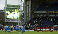 The FA Barclays Premiership<br />3 January 2005, Ewood Park, Blackburn<br />Blackburn Rovers v Charlton Athletic<br />Blackburn Rovers and Charlton Athletic players pay their respects to the victims of the Asian Tsanami<br />Pic Jason Cairnduff/Back Page Images