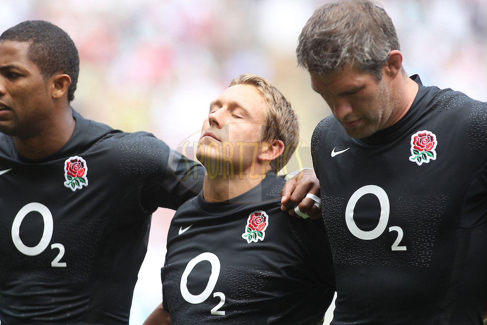 © Andrew Fosker / Seconds Left Images 2011 - England's Jonny Wilkinson (C) composes himself during the anthems -  England v Wales  - Investec International - 06/08/2011 - Twickenham Stadium  - London - All rights reserved..