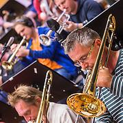NLD/Hilversum/20130930 - Repetitie Metropole Orkest voor concert, trombone