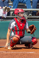 NORMAL, IL - April 06: Brittni LaFountaine during a college women's softball game between the ISU Redbirds and the University of Northern Iowa Panthers on April 06 2019 at Marian Kneer Field in Normal, IL. (Photo by Alan Look)