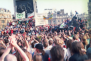 Crowd clapping, First Criminal Justice March, Trafalgar Square, London, UK, 1st of May 1994.