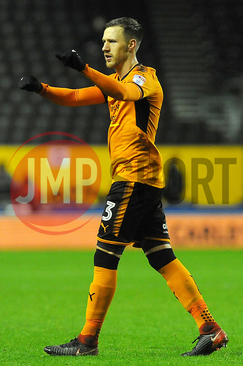 Barry Douglas of Wolverhampton Wanderers celebrates at the full time whistle  -Mandatory by-line: Nizaam Jones/JMP - 02/01/2018 - FOOTBALL - Molineux - Wolverhampton, England- Wolverhampton Wanderers v Brentford -Sky Bet Championship
