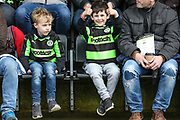 Young FGR fans during the EFL Sky Bet League 2 match between Forest Green Rovers and Colchester United at the New Lawn, Forest Green, United Kingdom on 2 April 2018. Picture by Shane Healey.