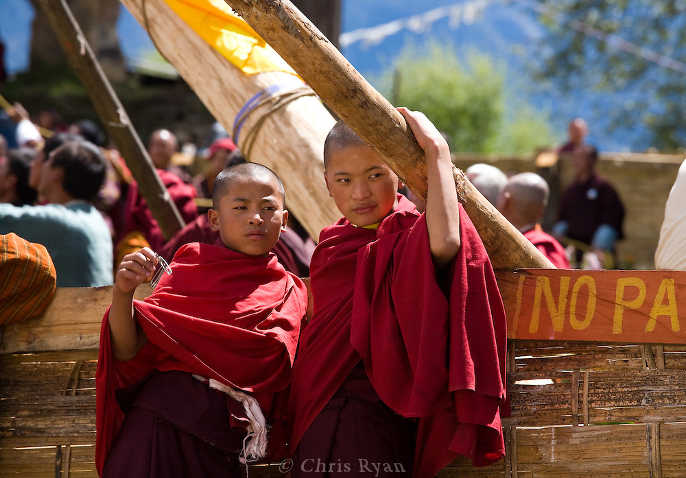 Gangtey Monastery, consecration ceremony