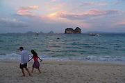 Thailand, Ko Hai. Sunset at the beach.