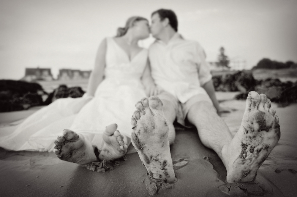Sandy feet at a Maine wedding in Kennebunkport, Maine.  Image by Maine Wedding Photographer, Puerto Vallarta Wedding Photographer, New York City Wedding Photographer and Philadelphia Wedding Photographer Michelle Turner.