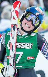 28.12.2013, Hochstein, Lienz, AUT, FIS Weltcup Ski Alpin, Lienz, Riesentorlauf, Damen, 2. Durchgang, im Bild Dritter Platz Mikaela Shiffrin (USA) // 3rd place Mikaela Shiffrin from United States of America after the 2nd run of ladies giant slalom Lienz FIS Ski Alpine World Cup at Hochstein in Lienz, Austria on 2013/12/28, EXPA Pictures © 2013 PhotoCredit: EXPA/ Michael Gruber