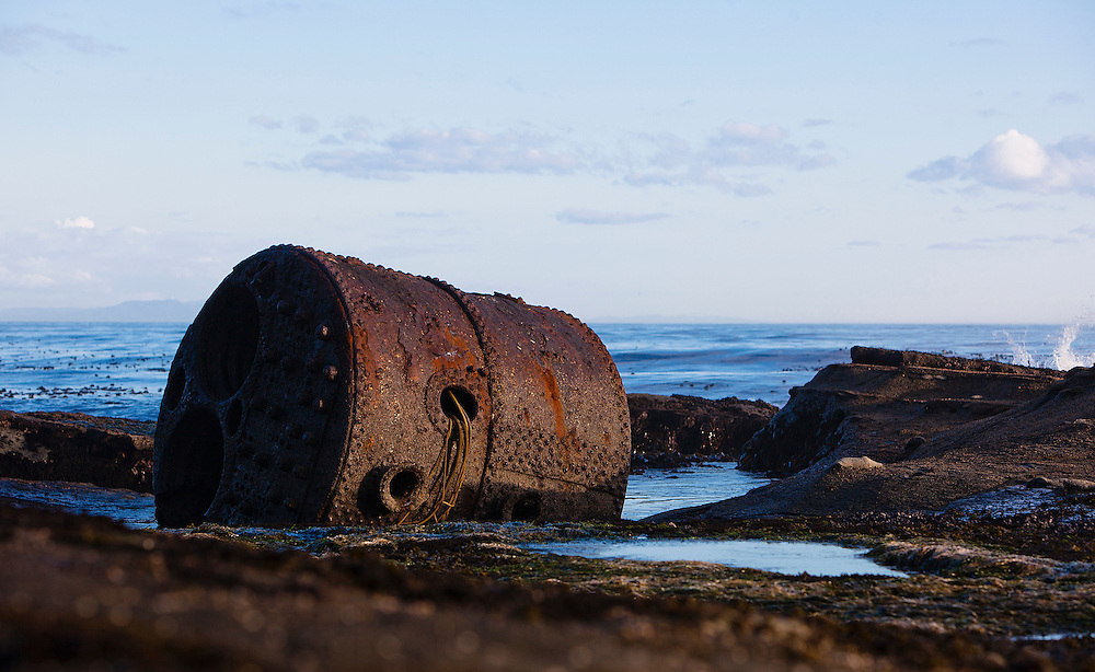 Shipwrecks along the West Coast trail located on Vancouver Island in British Columbia, Canada