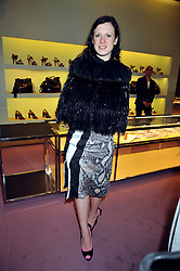 KATIE GRAND at a party to celebrate the opening of the newly refurbished Prada Store 16/18 Old Bond Street, London on 16th February 2009.