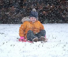 Snow scenes, West Lothian, 10 February 2020
