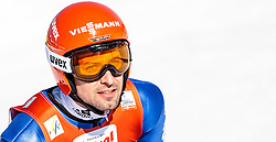 29.01.2017, Casino Arena, Seefeld, AUT, FIS Weltcup Nordische Kombination, Seefeld Triple, Skisprung, im Bild Bjoern Kircheisen (GER) // Bjoern Kircheisen of Germany reacts after his Competition Jump of Skijumping of the FIS Nordic Combined World Cup Seefeld Triple at the Casino Arena in Seefeld, Austria on 2017/01/29. EXPA Pictures © 2017, PhotoCredit: EXPA/ JFK