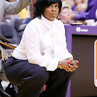 24 August 2014: Los Angeles Sparks head coach <br /> Penny Toler is seen during the Phoenix Mercury 93-68 victory over the Los Angeles Sparks, in a Conference Semi-Finals at the Staples Center, Los Angeles, California, USA.