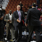 Chris Mullin, (left), Head Coach of St. John's and Frank Martin, South Carolina Head Coach prepare to shake hands after the St. John's vs South Carolina Men's College Basketball game in the Hall of Fame Shootout Tournament at Mohegan Sun Arena, Uncasville, Connecticut, USA. 22nd December 2015. Photo Tim Clayton