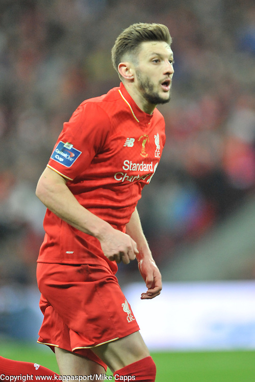 ADAM LALLANA LIVERPOOL, Liverpool v Manchester City, Capital One Cup Final Wembley Stadium, Sunday 28th Febuary 2016