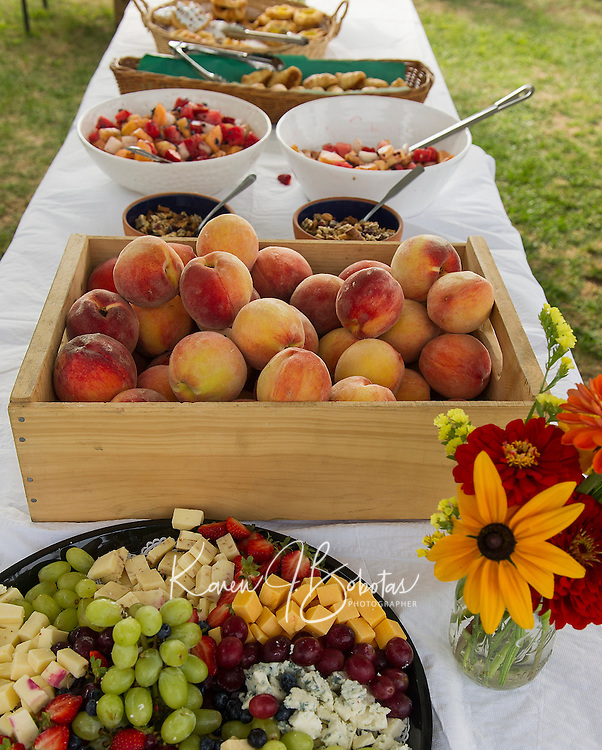 A bounty of food selections for Moulton Farms Sunday Brunch.  (Karen Bobotas/for the Laconia Daily Sun)