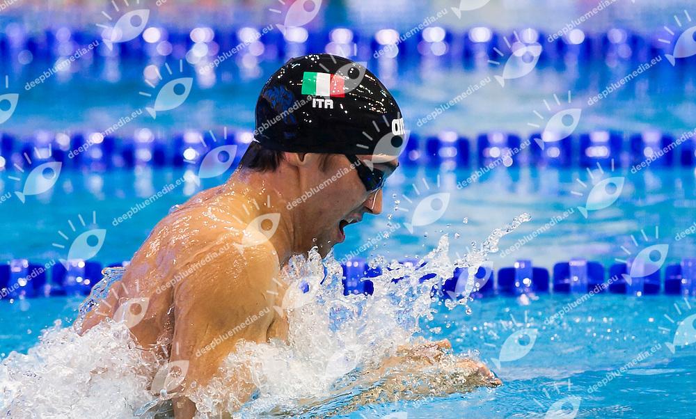 PIZZINI Luca ITA<br /> Men's 200m breaststroke heats<br /> Netanya, Israel, Wingate Institute<br /> LEN European Short Course Swimming Championships  Dec. 2 - 6, 2015 Day02 Dec. 3nd<br /> Nuoto Campionati Europei di nuoto in vasca corta<br /> Photo Giorgio Perottino/Deepbluemedia/Insidefoto