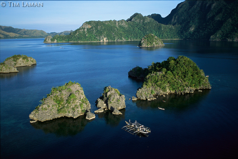 An aerial view of the Calamian islands.