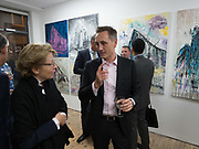 Gibraltar as seen by five artists. private view hosted by the Chief Minister of Gibraltar. Art Bermondsey project Space. 24 October 2017