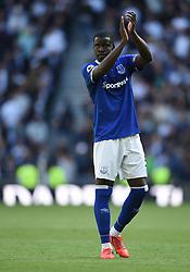 Everton's Kurt Zouma applauds the away fans at full time