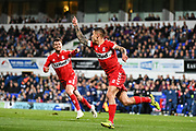 Middlesbrough Midfielder Mo Besic (37) celebrates scoring a goal (1-0) during the EFL Sky Bet Championship match between Ipswich Town and Middlesbrough at Portman Road, Ipswich, England on 2 October 2018.