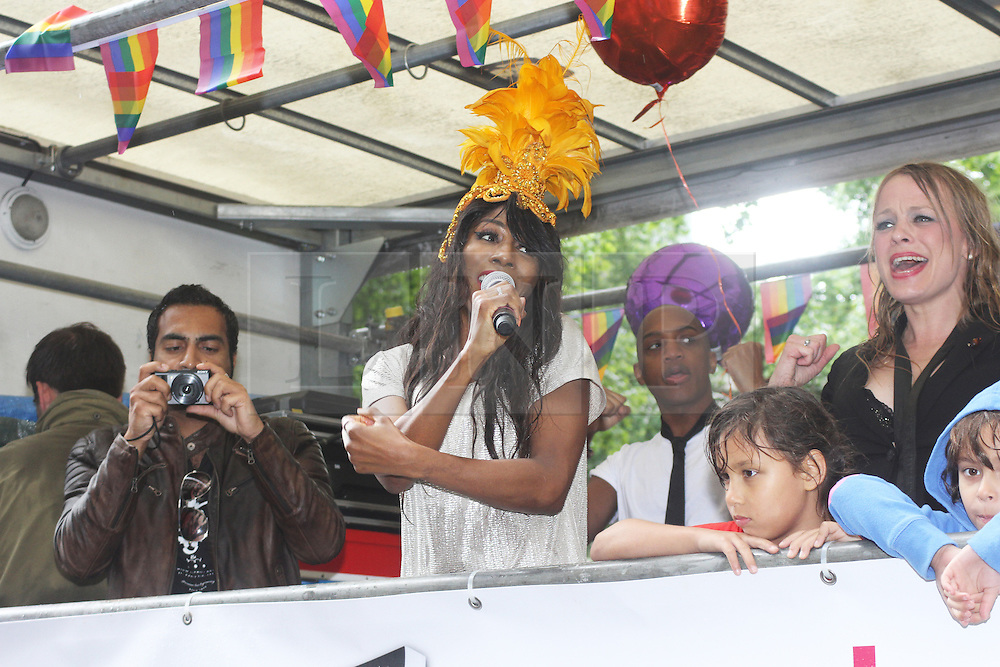 © Licensed to London News Pictures. 28/06/2014. London, UK  Sinitta. Pride in London 2014, London UK, 28 June 2014. Photo credit : Brett D Cove/piQtured/LNP