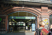 Hackescher Markt S Bahn station, Berlin, Germany