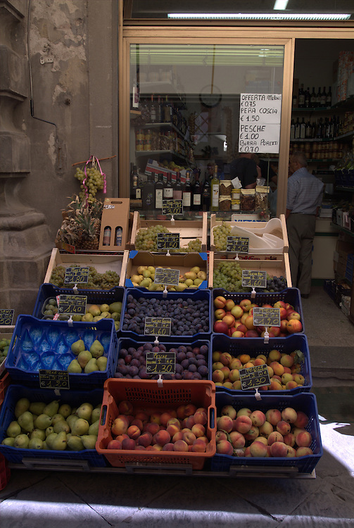 Fruit stand in Cortona, Italy