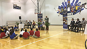 Codwell ES students listen to the presentation during the Read to the Final Four event at Morefield Boys & Girls Club.