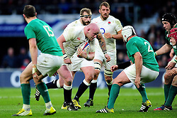 Dan Cole of England takes on the Ireland defence - Mandatory byline: Patrick Khachfe/JMP - 07966 386802 - 27/02/2016 - RUGBY UNION - Twickenham Stadium - London, England - England v Ireland - RBS Six Nations.