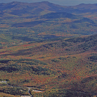 View from a top Whiteface Mountain in Lake Placid New York looking towards  the High Peaks area of the Adirondacks