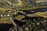 Aerial view of homes in Kiawah Island, SC.