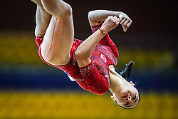 October 28, 2018 - Doha, Quatar - Jinru Liu of  China   during  Floor qualification at the Aspire Dome in Doha, Qatar, Artistic FIG Gymnastics World Championships on 28 of October 2018. (Credit Image: © Ulrik Pedersen/NurPhoto via ZUMA Press)