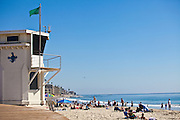 Lifeguard Tower on the Boardwalk at Main Beach in Laguna Beach California