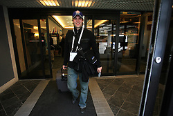 Marjan Manfreda at Slovenian National team packing and going from Citadel Hotel to the Halifax airport, when they finished with games at IIHF WC 2008 in Halifax, on May 11, 2008, Canada. (Photo by Vid Ponikvar / Sportal Images)