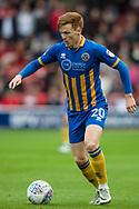 Jon Nolan of Shrewsbury Town in action during the EFL Sky Bet League 1 match between Walsall and Shrewsbury Town at the Banks's Stadium, Walsall, England on 7 October 2017. Photo by Darren Musgrove.
