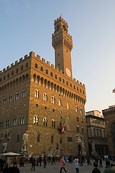 The Palazzo Vecchio facing the Piazza della Signoria  Florence / Firenze, Italy / Italia December 2, 2007.Florence / Firenze, Italy / Italia December 2, 2007.
