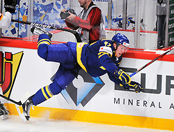 09.05.2012, Ericsson Globe, Stockholm, SWE, IIHF, Eishockey WM, Deuschland (GER) vs Schweden (SWE), im Bild 92 Gabriel Landeskog // during the IIHF Icehockey World Championship Game between Germany (GER) and Sweden (SWE)at the Ericsson Globe, Stockholm, Sweden on 2012/05/09. EXPA Pictures © 2012, PhotoCredit: EXPA/ PicAgency Skycam/ Simone Syversson..***** ATTENTION - OUT OF SWE *****
