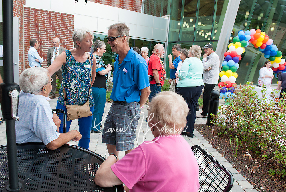 Colleen and Tom Garrity (8 yrs) are among the visitors for LRGH Cancer Survivors Day held Tuesday afternoon.   (Karen Bobotas/for the Laconia Daily Sun)