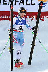 14.02.2013, Planai, Schladming, AUT, FIS Weltmeisterschaften Ski Alpin, Riesenslalom,  Damen, 2. Durchgang, im Bild Kathrin Zettel (AUT, 4. Platz) // 4th place Kathrin Zettel of Austria reacts after 2nd run of ladies Giant Slalom at the FIS Ski World Championships 2013 at the Planai Course, Schladming, Austria on 2013/02/14. EXPA Pictures © 2013, PhotoCredit: EXPA/ Martin Huber