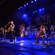"WASHINGTON, DC - March 7, 2015 - Hozier (second from left) performs at the Lincoln Theater in Washington, D.C. His hit song ""Take Me To Church"" was nominated for Song of the Year at the 2015 Grammys. (Photo by Kyle Gustafson / For The Washington Post)"