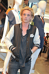 JAMIE CAMPBELL BOWER at a party to celebratethe opening of the Lacoste Flagship Store at 44 Brompton Road, Knightsbridge, London on 20th June 2012.