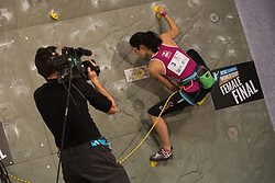 Katharina Posch (AUT) during women final competition of IFSC Climbing World Cup Kranj 2014, on November 16, 2014 in Arena Zlato Polje, Kranj, Slovenia. (Photo By Grega Valancicr / Sportida.com)