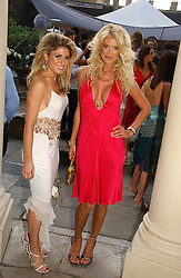 Left to right, HOFIT GOLAN and VICTORIA SILVSTEDT at the annual Michele Watches Summer Party held in the gardens of Home House, 20 Portman Square, London W1 on 15th June 2006.<br /><br />NON EXCLUSIVE - WORLD RIGHTS